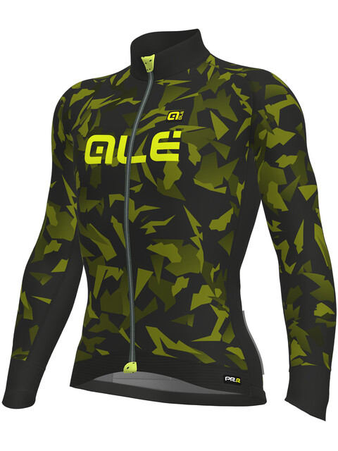 Alé Cycling Graphics PRR Glass Longsleeve Jersey Men nero-glo fluo/black-yellow fluo